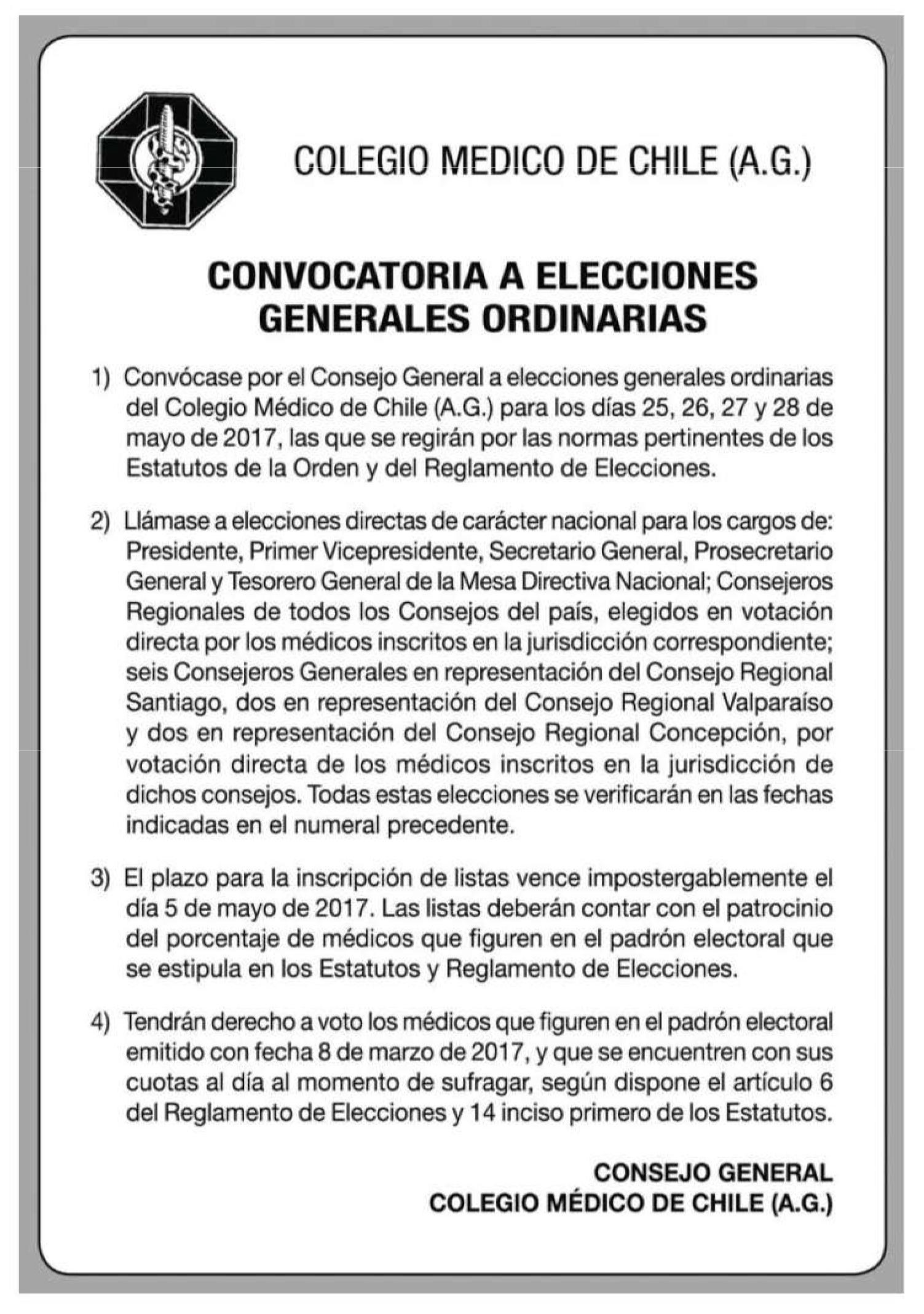 Publicación en el diario La Tercera 10 de Marzo 2017